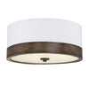 Elara 3 Light Walnut Wood Flush Mount by Aria Home Lighting