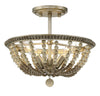 Elara 3 Light Burnished Silver Semi Flush by Aria Home Lighting
