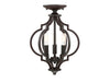 Elara 3 Light Oil Rubbed Bronze Semi Flush by Aria Home Lighting
