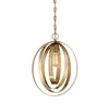 Manhattan 1 Light Natural Brass Pendant by Aria Home Lighting