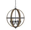 Manhattan 6 Light Black Pendant by Aria Home Lighting
