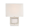 Alura 1 Light Brushed Nickel Sconce by Aria Home Lighting