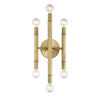 Alura 6 Light Natural Brass Sconce by Aria Home Lighting
