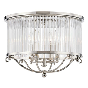 Glass No.1 4 Light Semi Flush By Hudson Valley MDS201-PN in Polished Nickel Finish