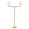 Signature No.1 2 Light Floor Lamp By Hudson Valley MDSL602-AGB in Aged Brass Finish