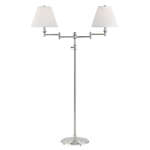 Signature No.1 2 Light Floor Lamp By Hudson Valley MDSL602-PN in Polished Nickel Finish