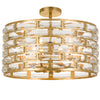 Crystorama MER-4866-GA_CEILING Meridian 6 Light Antique Gold Semi-Flush