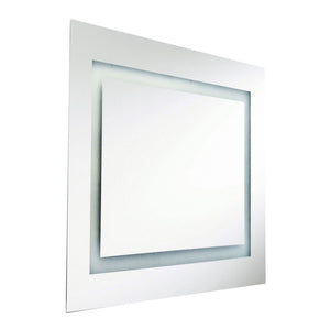 2 Light LED Vanity Mirror in Silver by Dainolite MLED-3636-IL