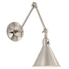 Crystorama MOR-8801-PN Morgan 1 Light Polished Nickel Wall Mount