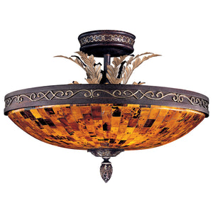 Salamanca 6 Light Semi-Flush Mount in Cattera Bronze By Metropolitan N6520-468