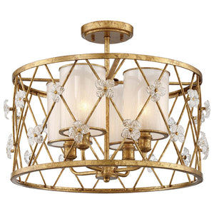 Victoria Park 4 Light Semi-Flush Mount in Elara Gold By Metropolitan N6565-596