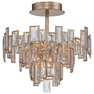 Bel Mondo 5 Light Semi-Flush Mount in Luxor Gold By Metropolitan N6672-274