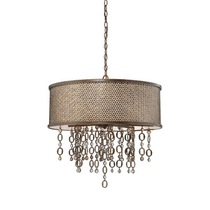 Ajourer 8 Light Pendant in French Bronze By Metropolitan N6724-258