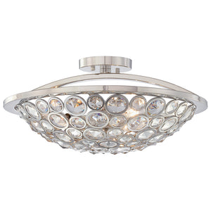 Magique 3 Light Semi-Flush Mount in Polished Nickel By Metropolitan N6750-613