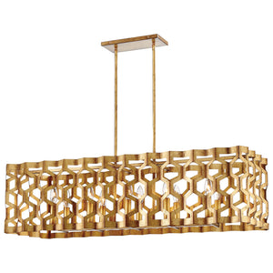 Coronade 10 Light Island Lighting in Pandora Gold Leaf By Metropolitan N6778-293