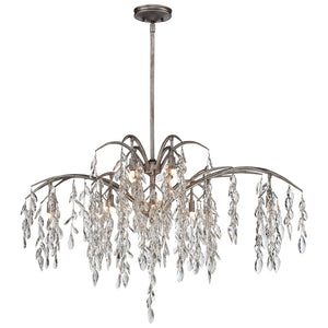 Bella Flora 12 Light Island Lighting in Silver Mist By Metropolitan N6869-278