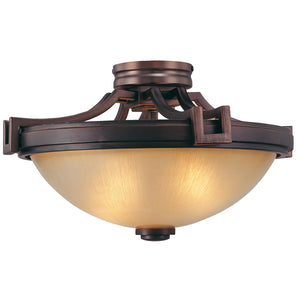 Underscore 2 Light Semi-Flush Mount in Cimmaron Bronze By Metropolitan N6960-1-267B