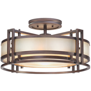Underscore 3 Light Semi-Flush Mount in Cimmaron Bronze By Metropolitan N6964-1-267B
