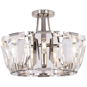 Castle Aurora 8 Light Semi-Flush Mount in Polished Nickel By Metropolitan N6987-613