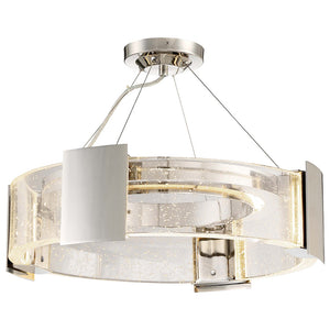 Stellaris 4 Light LED Semi-Flush Mount in Polished Nickel By Metropolitan N7235-613-L