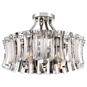Elegance Royale 6 Light Semi-Flush Mount in Polished Nickel By Metropolitan N7255-613