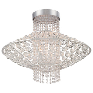 Saybrook 4 Light Semi-Flush Mount in Catalina Silver By Metropolitan N7304-598