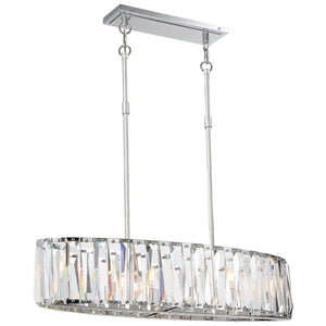 Coronette 6 Light Island Lighting in Chrome By Metropolitan N7506-77