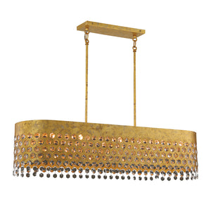 Kingsmont 10 Light Island Lighting in Glitz Gold Leaf By Metropolitan N7655-705