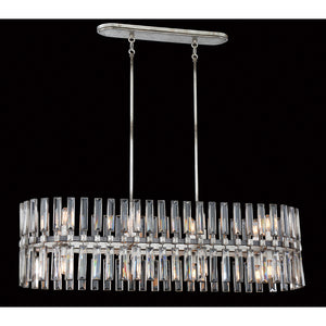 Belle Aurore 16 Light Island Lighting in Shadow Silver Leaf By Metropolitan N7715-700