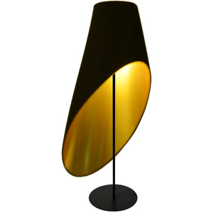 3 Light LED Floor Lamp in Black by Dainolite ODS-3F-698