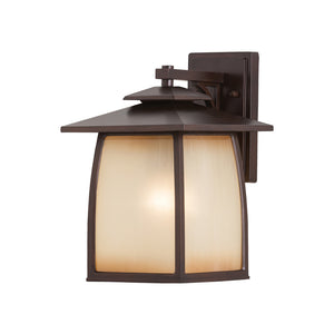 Wright House 1 Light Outdoor Lighting in Sorrel Brown Finish by Sea Gull OL8502SBR