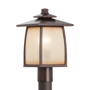 Wright House 1 Light Outdoor Lighting in Sorrel Brown Finish by Sea Gull OL8508SBR