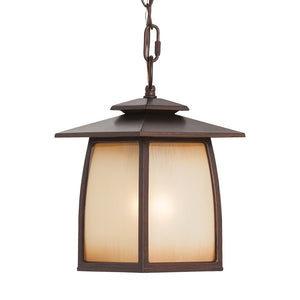 Wright House 1 Light Outdoor Lighting in Sorrel Brown Finish by Sea Gull OL8511SBR