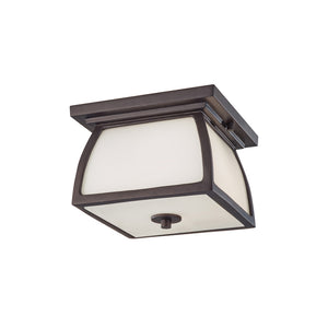 Wright House 2 Light Outdoor Lighting in Oil Rubbed Bronze Finish by Sea Gull OL8513ORB
