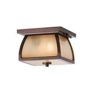 Wright House 2 Light Outdoor Lighting in Sorrel Brown Finish by Sea Gull OL8513SBR
