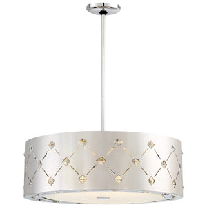 Crowned 1 Light LED Pendant in Chrome Finish By George Kovacs P1034-077-L