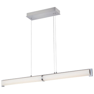 Tube 2 Light LED Island Light in Brushed Nickel Finish By George Kovacs P1152-084-L