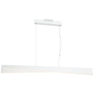 So Inclined 1 Light LED Island Light in Sand White Finish By George Kovacs P1155-655-L