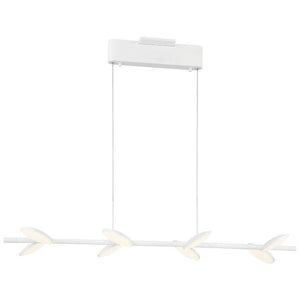 Eyespy 8 Light LED Island Light in Matte White Finish By George Kovacs P1156-044B-L