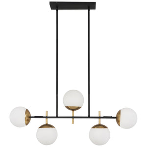 Alluria 5 Light Island Light in Weathered Black W/Autumn Gold Finish By George Kovacs P1355-618