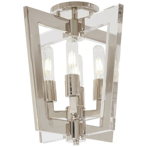 Crystal Chrome 4 Light Semi Flush in Polished Nickel Finish By George Kovacs P1379-613
