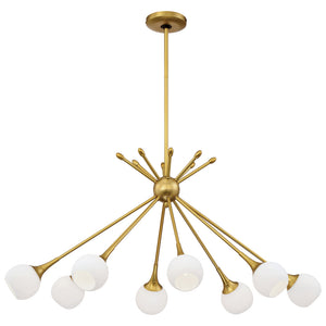 Pontil 8 Light Island Light in Honey Gold Finish By George Kovacs P1808-248