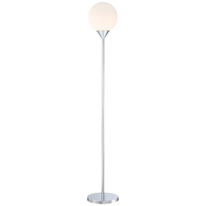 Simple 1 Light Floor Lamp in Chrome Finish By George Kovacs P1831-3-077