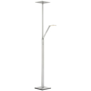 1 Light Floor Lamp in Chiseled Nickel Finish By George Kovacs P305-5-654-L