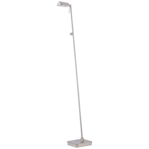 George'S Reading Room 1 Light LED Floor Lamp in Brushed Nickel Finish By George Kovacs P4344-084