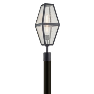 Oak Knoll 1 Light Post By Troy P6805 in Vintage Bronze Finish
