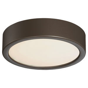 1 Light LED Flush Mount in Painted Copper Bronze Patina Finish By George Kovacs P840-647B-L