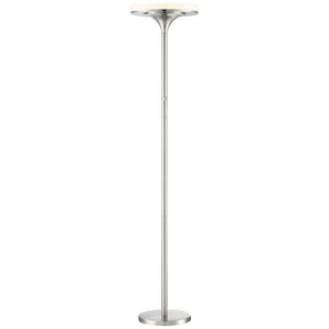 U.H.O. 1 Light LED Floor Lamp in Brushed Nickel Finish By George Kovacs P959-084-L
