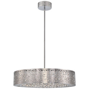 Hidden Gems 1 Light LED Pendant in Chrome Finish By George Kovacs P986-077-L