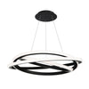 Veloce 36in LED Chandelier 3000K in Black